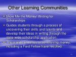 other learning communities21