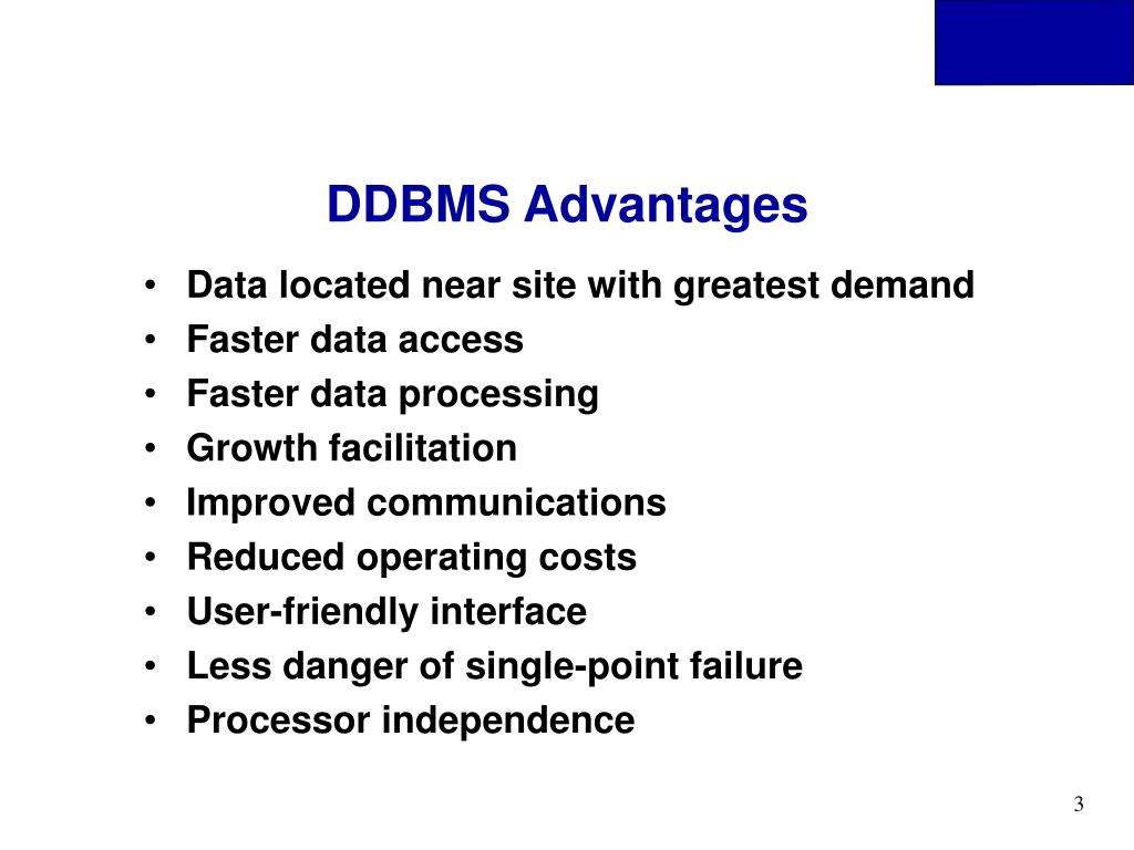 DDBMS Advantages