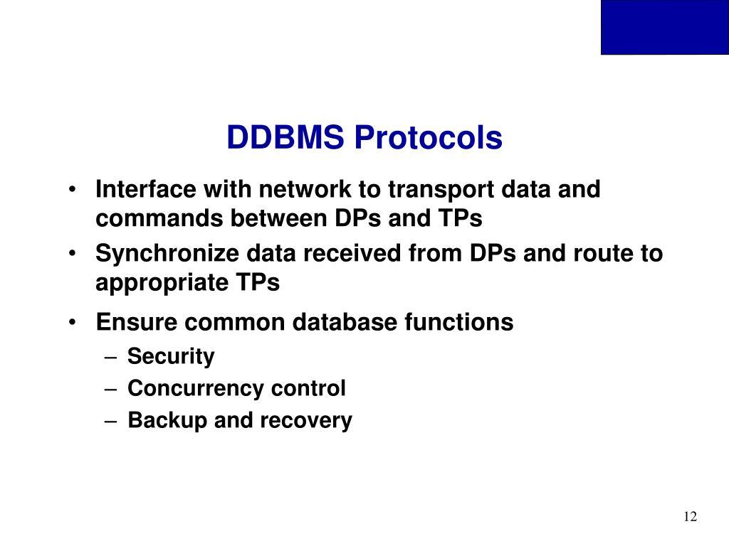 DDBMS Protocols
