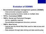 evolution of ddbms