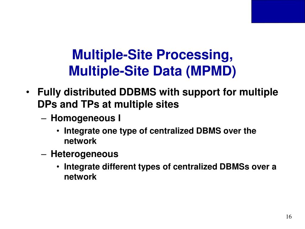 Multiple-Site Processing,