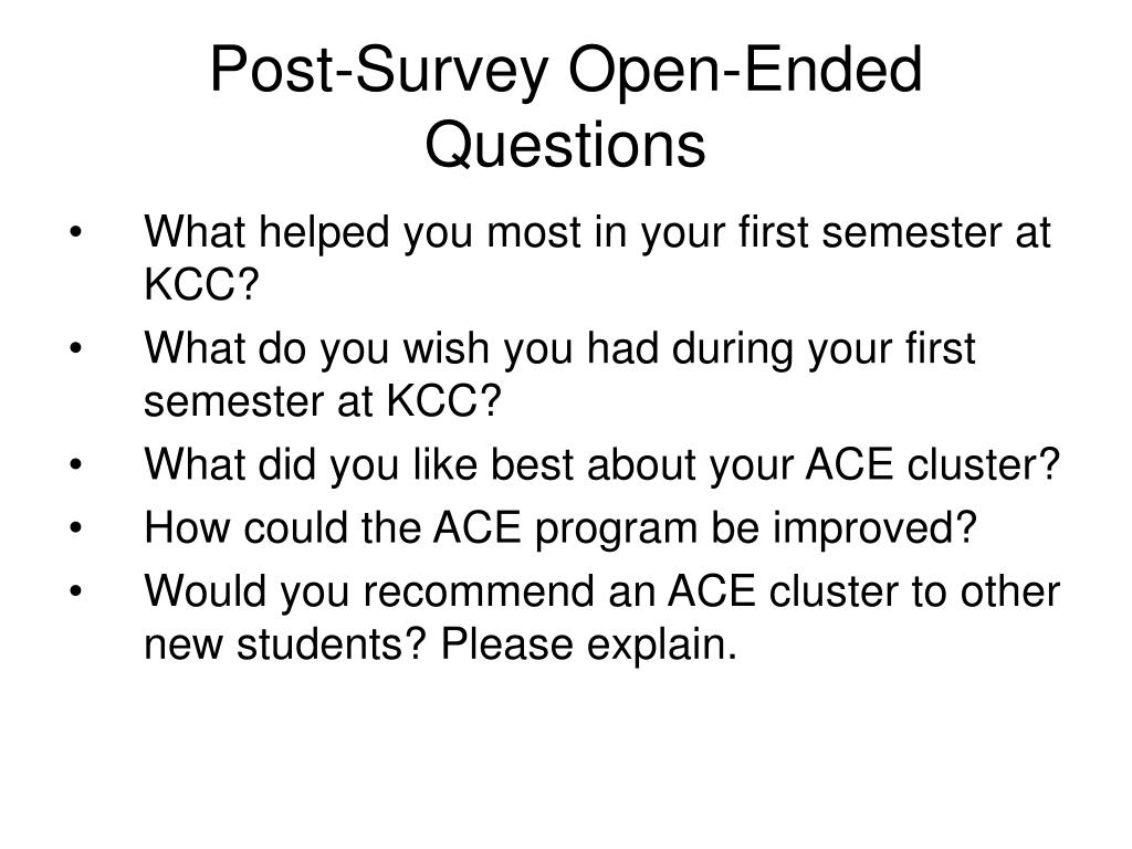 Post-Survey Open-Ended Questions