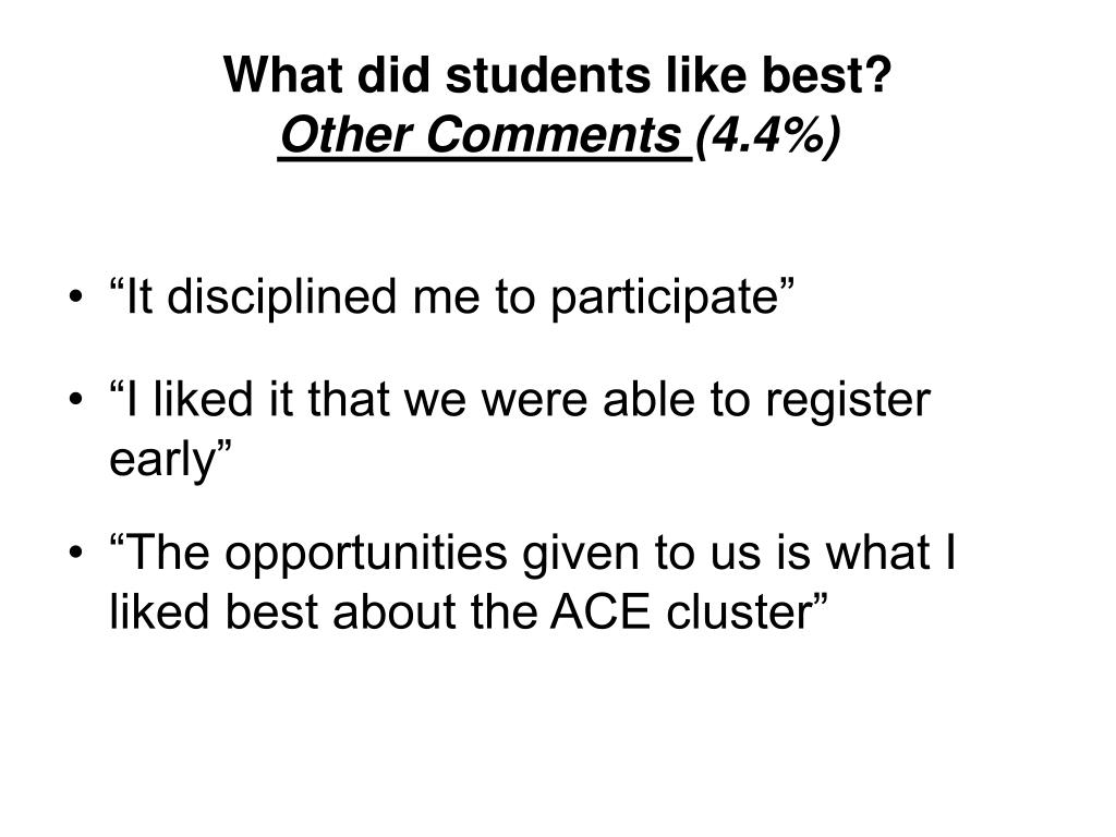What did students like best?