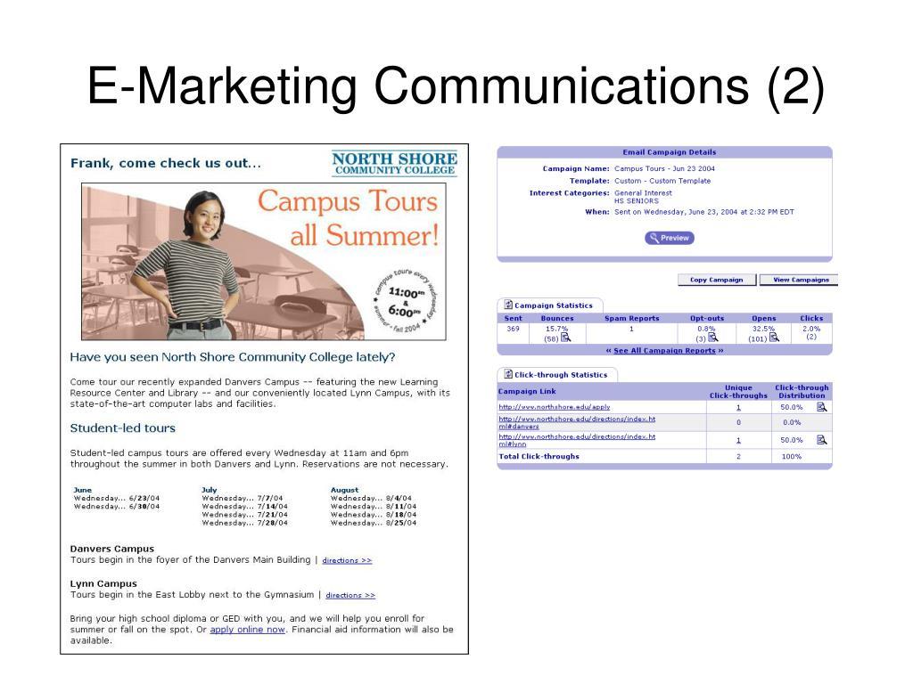 E-Marketing Communications (2)