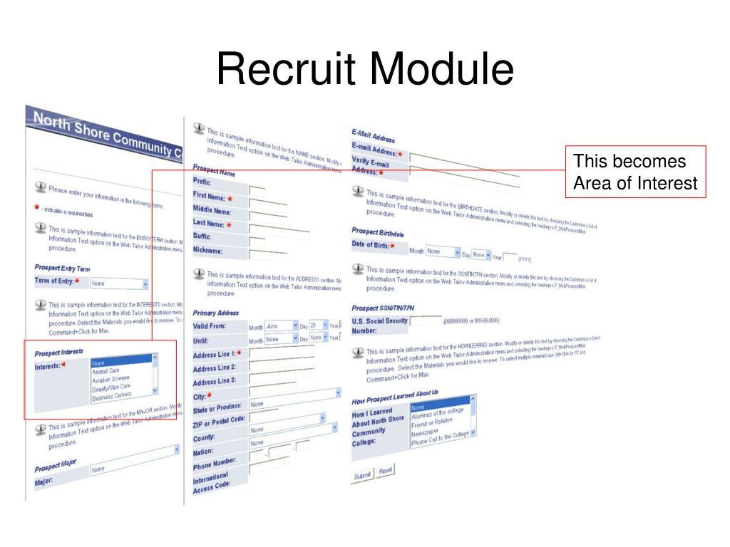 Recruit Module