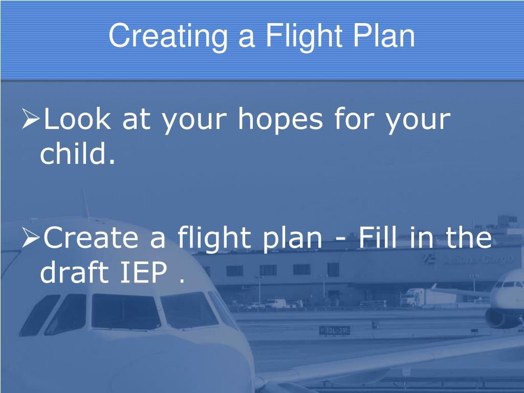 Creating a Flight Plan