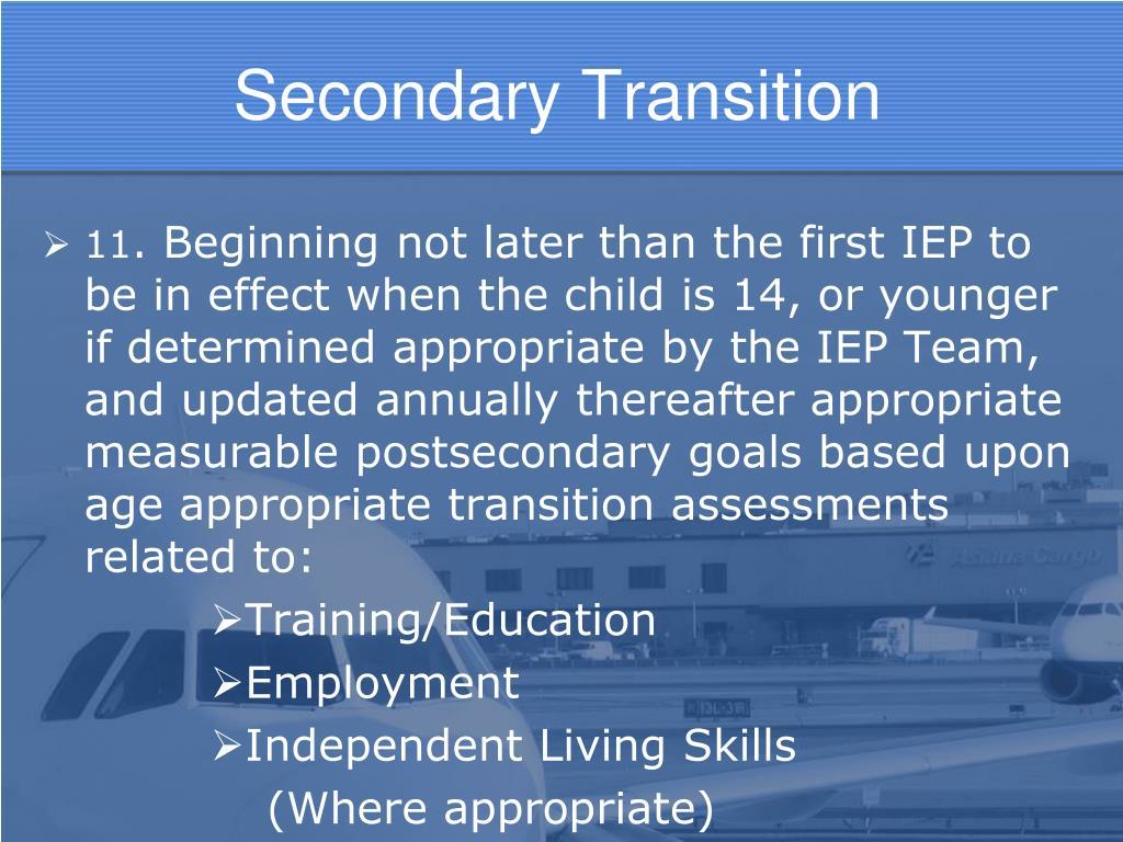 Secondary Transition