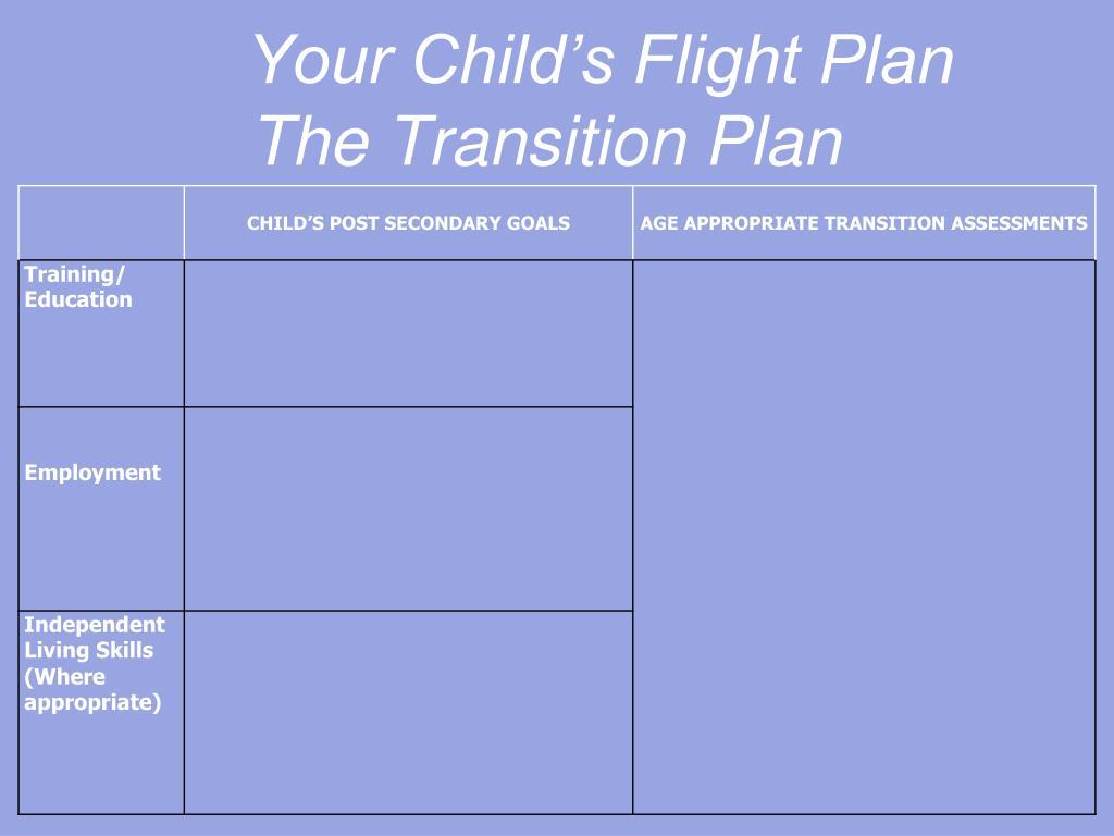 Your Child's Flight Plan