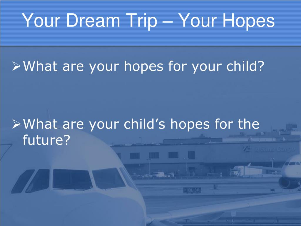 Your Dream Trip – Your Hopes