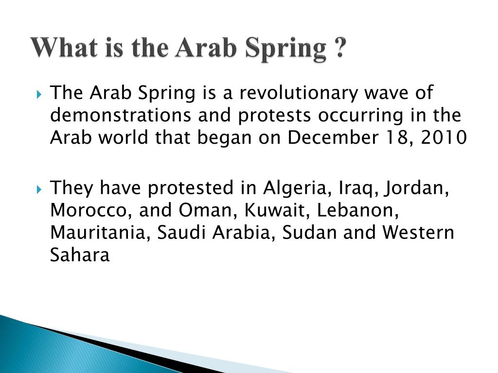 What is the Arab Spring ?