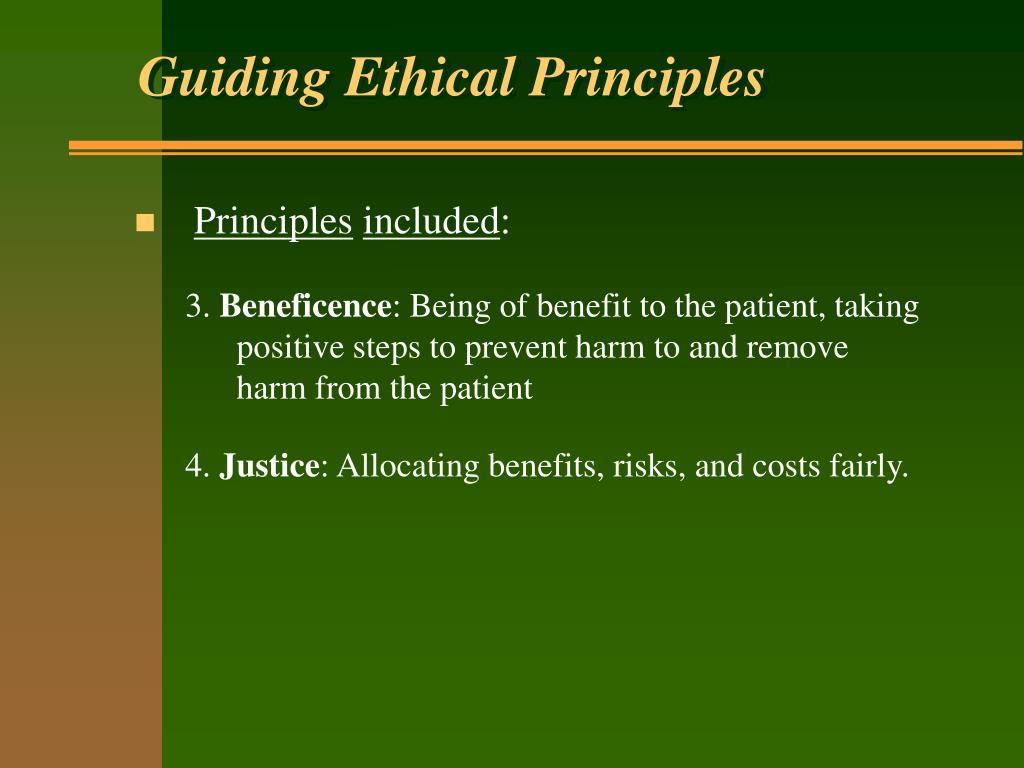 Guiding Ethical Principles