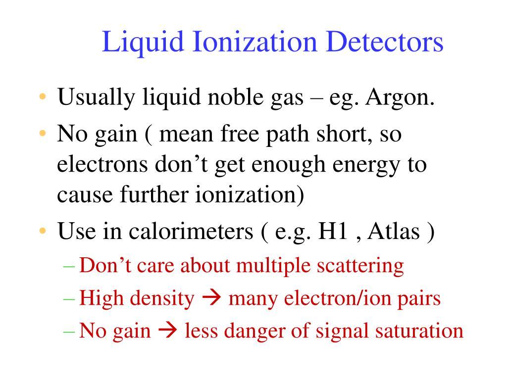 Liquid Ionization Detectors