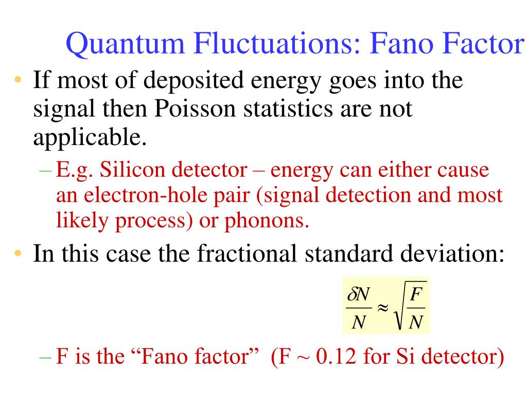 Quantum Fluctuations: Fano Factor