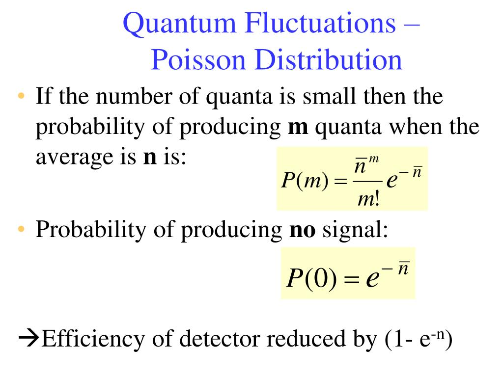Quantum Fluctuations – Poisson Distribution