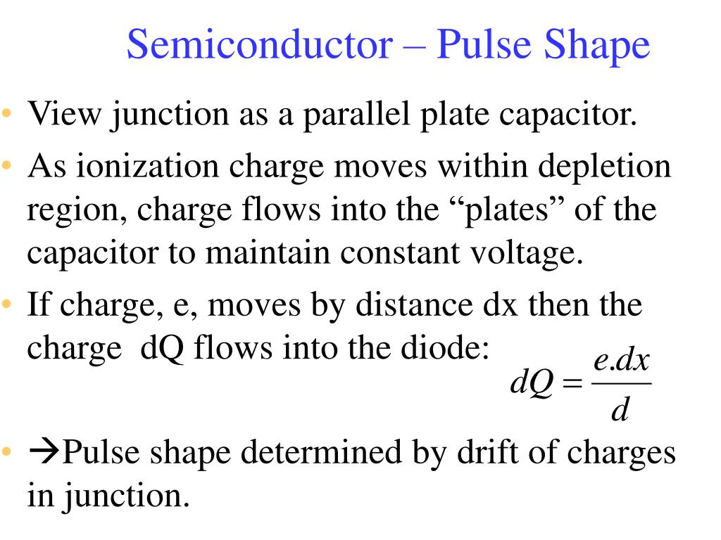 Semiconductor – Pulse Shape