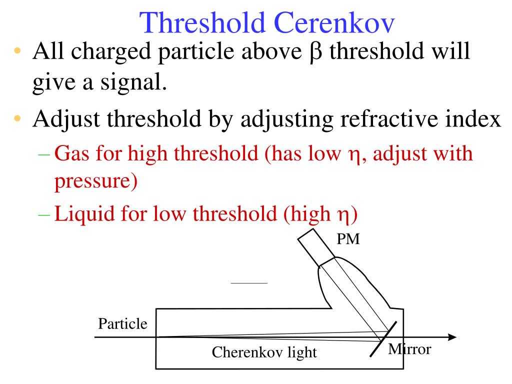 Threshold Cerenkov