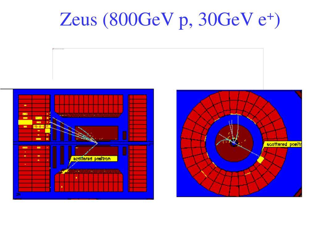 Zeus (800GeV p, 30GeV e