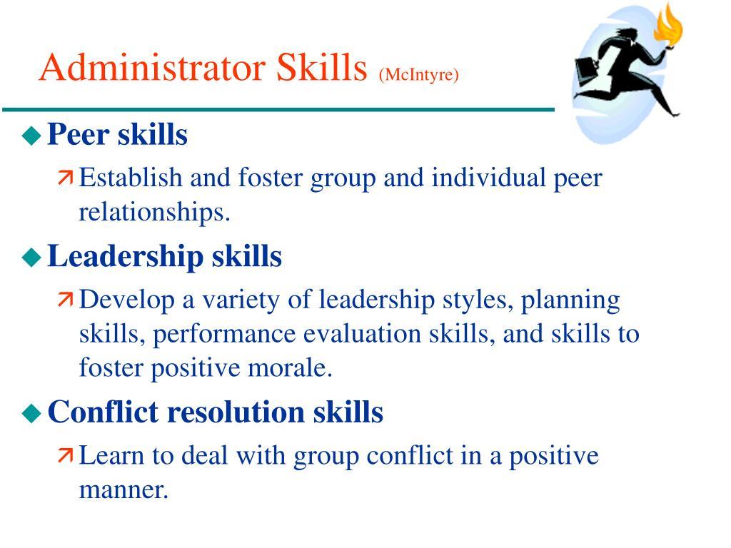 Administrator Skills