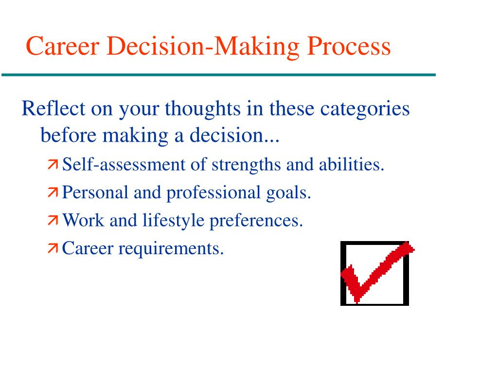 Career Decision-Making Process