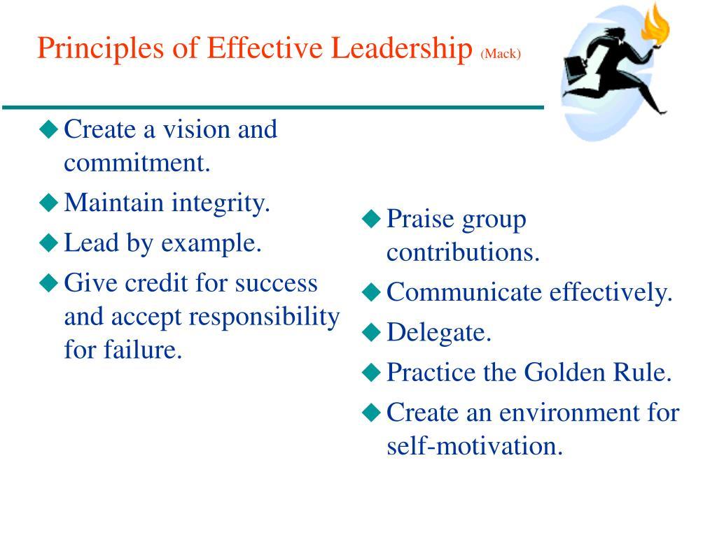Principles of Effective Leadership