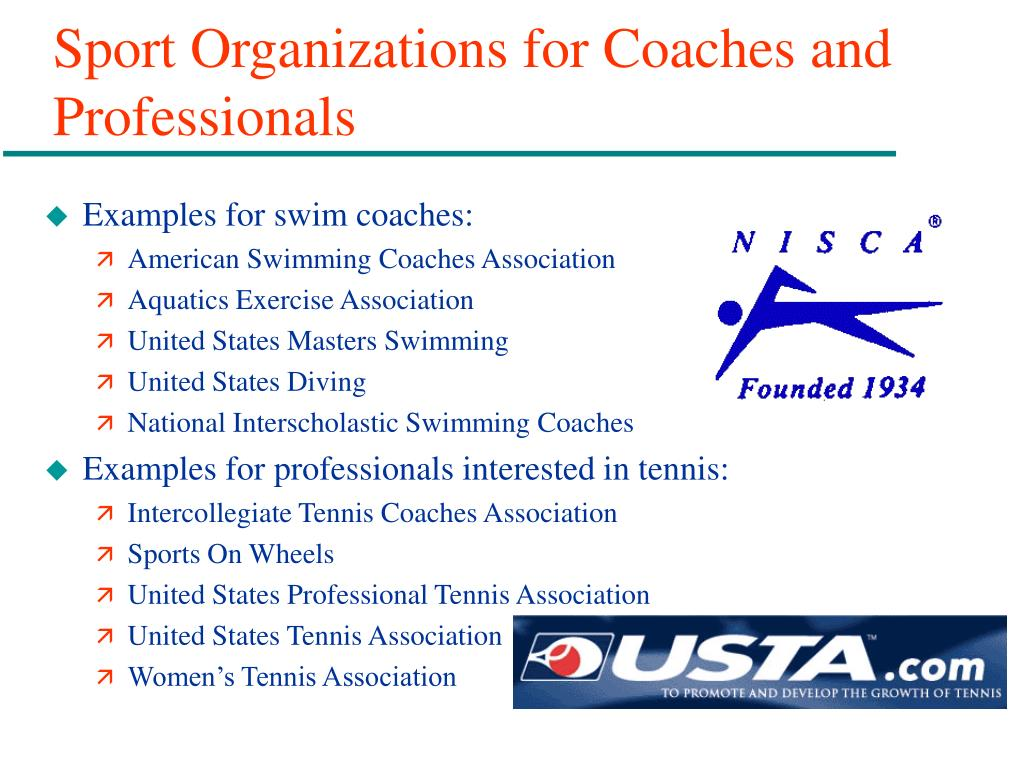 Sport Organizations for Coaches and Professionals