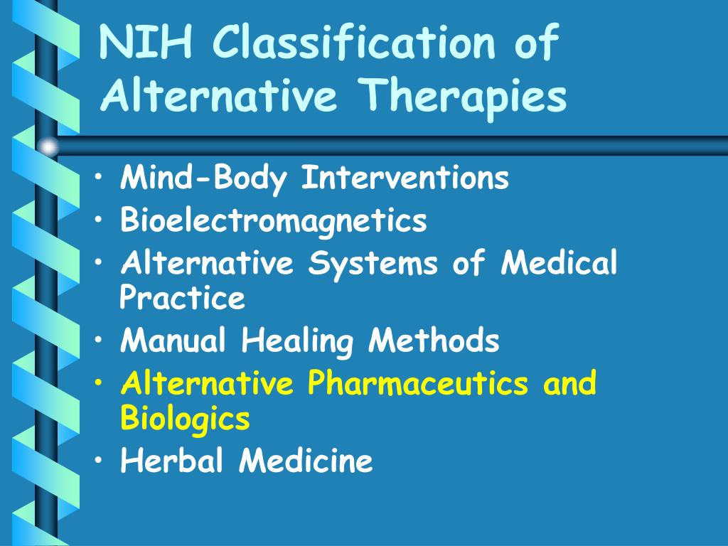 NIH Classification of Alternative Therapies