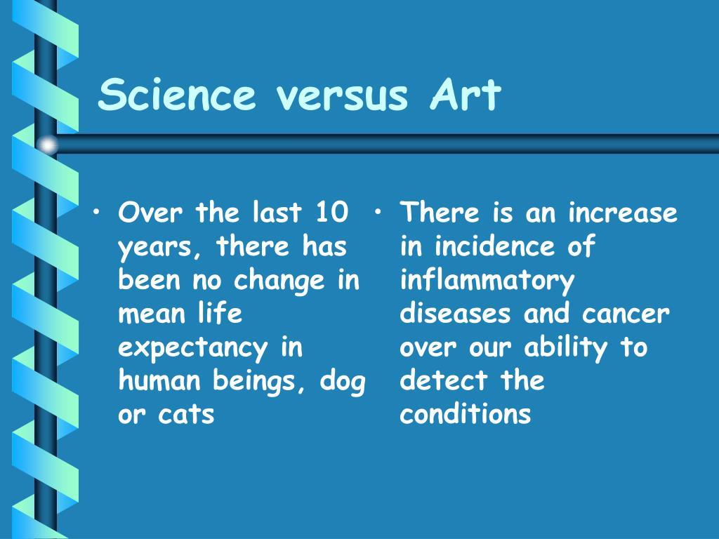 Science versus Art