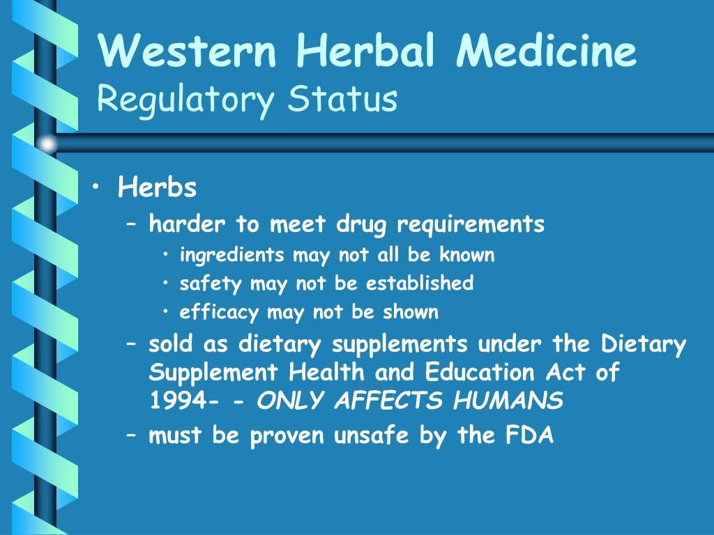 Western Herbal Medicine