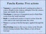 pancha karma f ive actions
