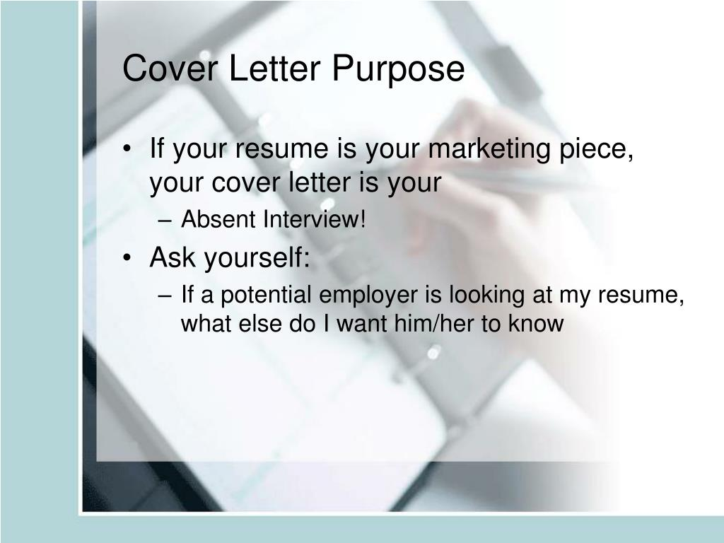 Cover Letter Purpose