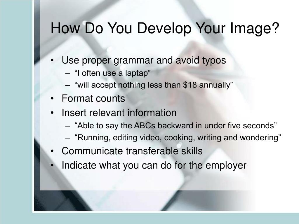 How Do You Develop Your Image?