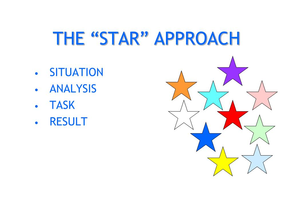 """THE """"STAR"""" APPROACH"""