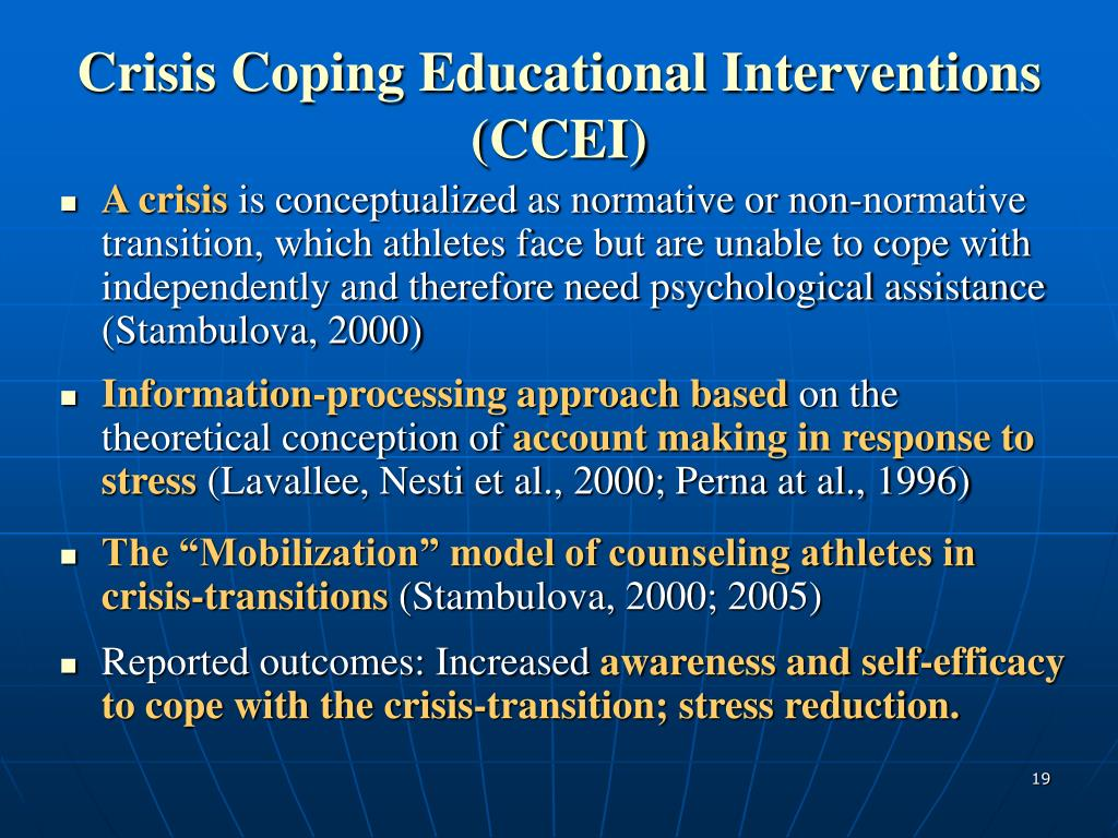 Crisis Coping Educational Interventions (CCEI)