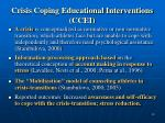 crisis coping educational interventions ccei