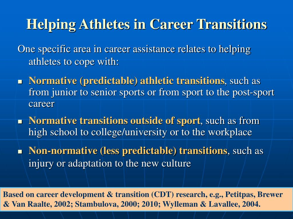 Helping Athletes in Career Transitions
