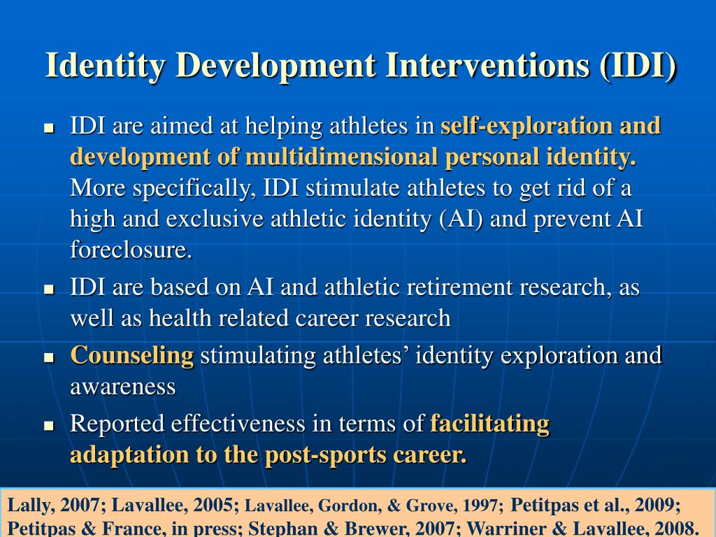 Identity Development Interventions (IDI)