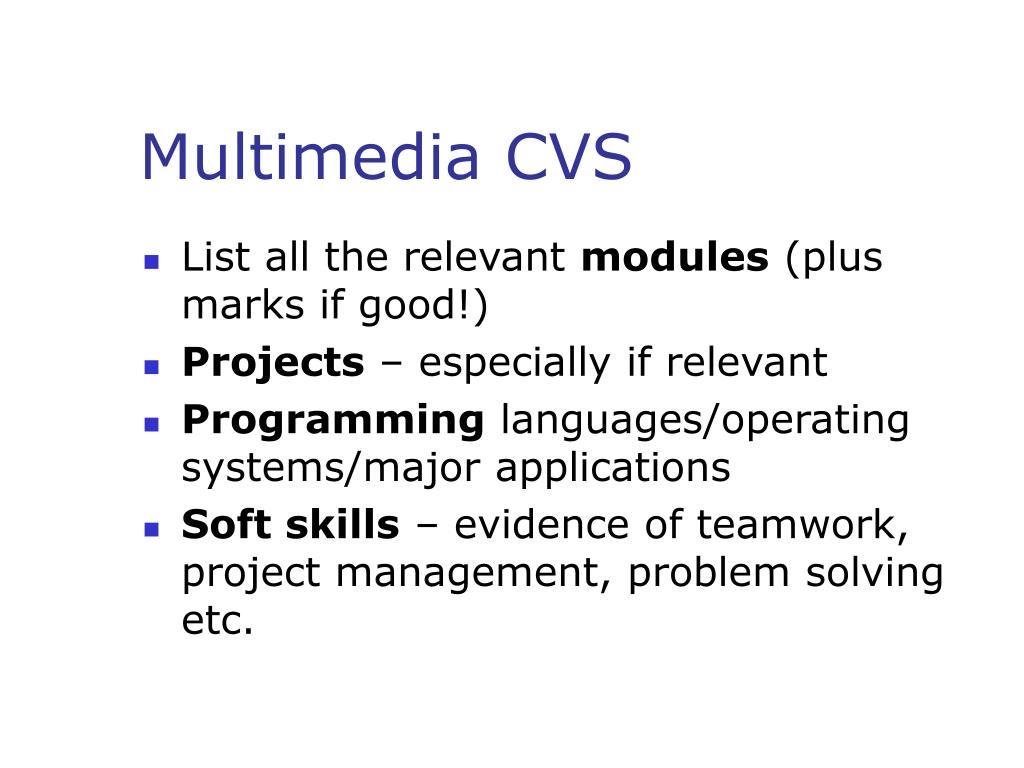 Multimedia CVS