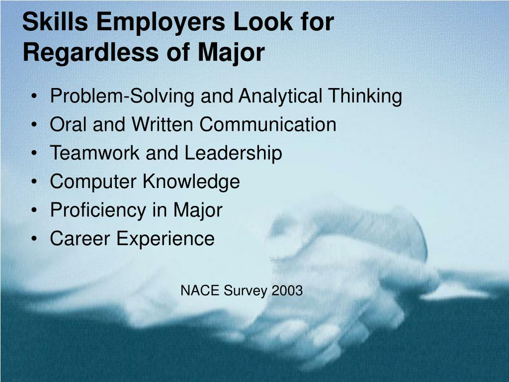 Skills Employers Look for Regardless of Major