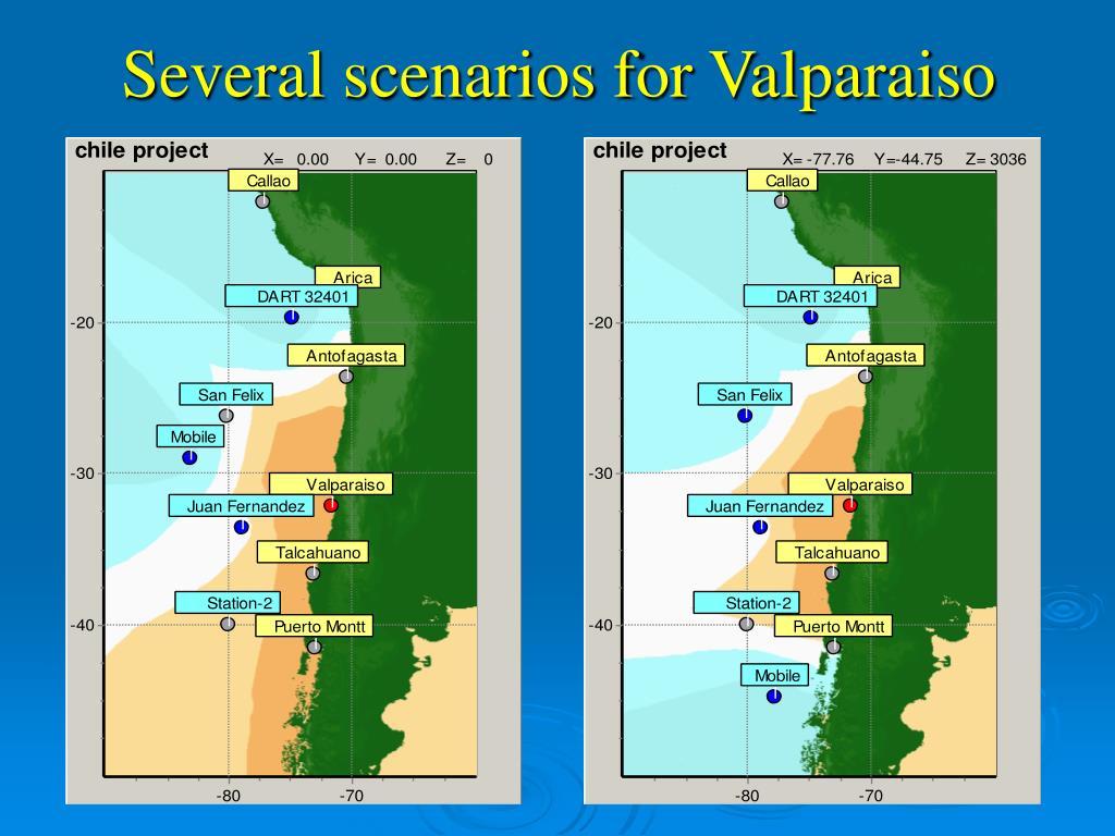 Several scenarios for Valparaiso