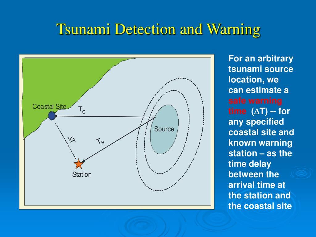 Tsunami Detection and Warning