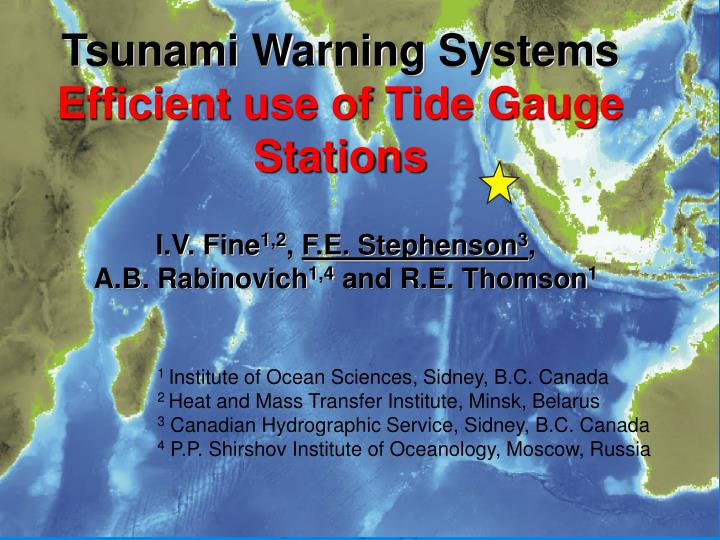 Tsunami warning systems efficient use of tide gauge stations l.jpg
