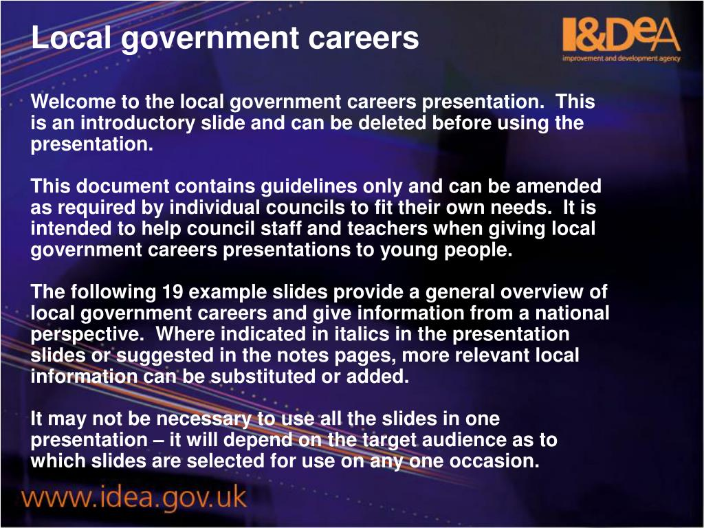 Local government careers