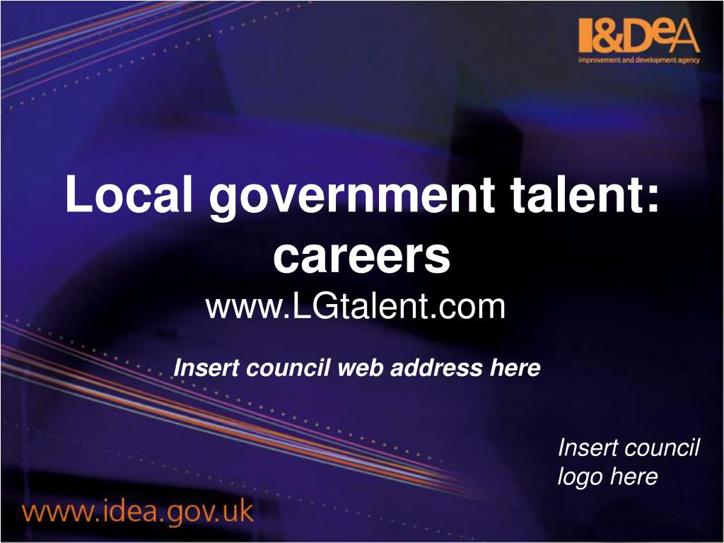 Local government talent: careers