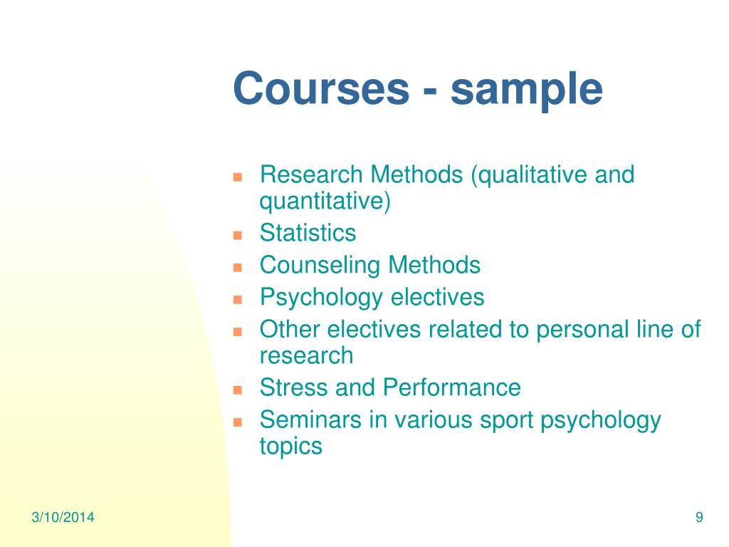 Courses - sample