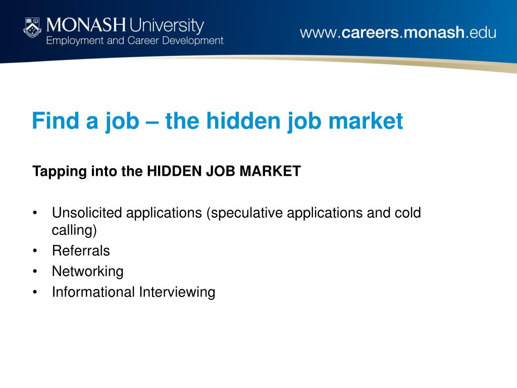 Find a job – the hidden job market