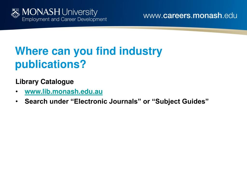 Where can you find industry publications?