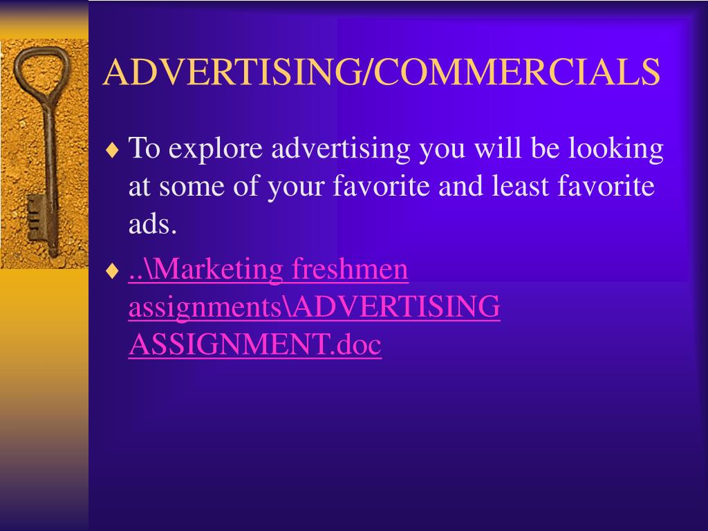 ADVERTISING/COMMERCIALS
