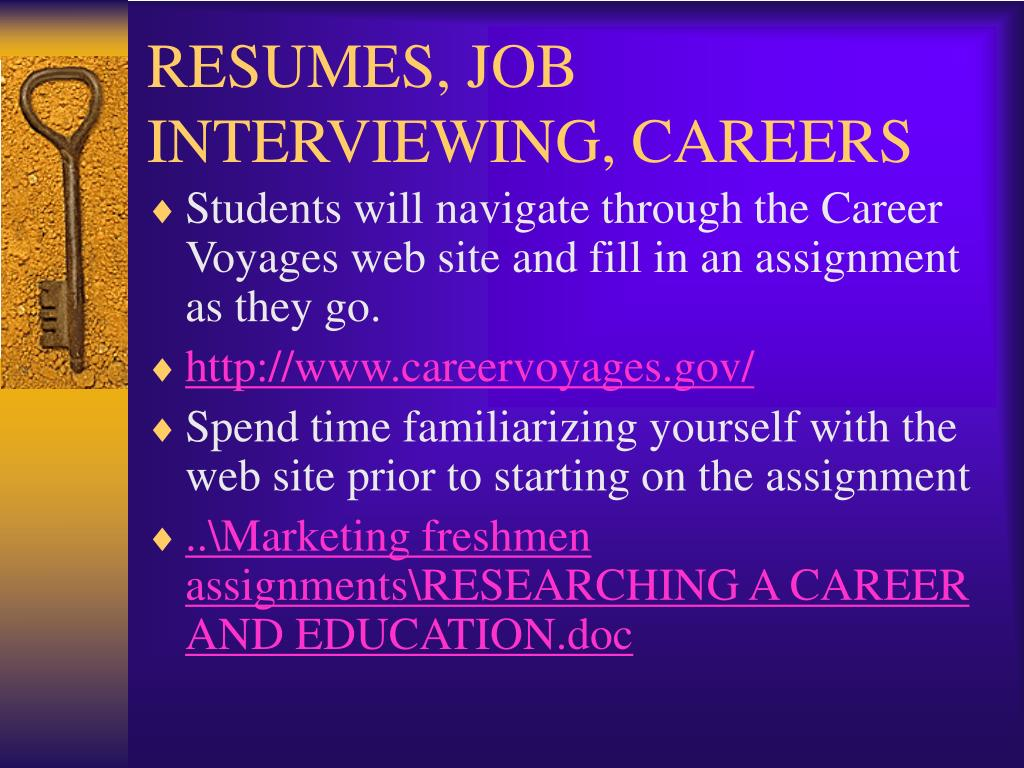 RESUMES, JOB INTERVIEWING, CAREERS