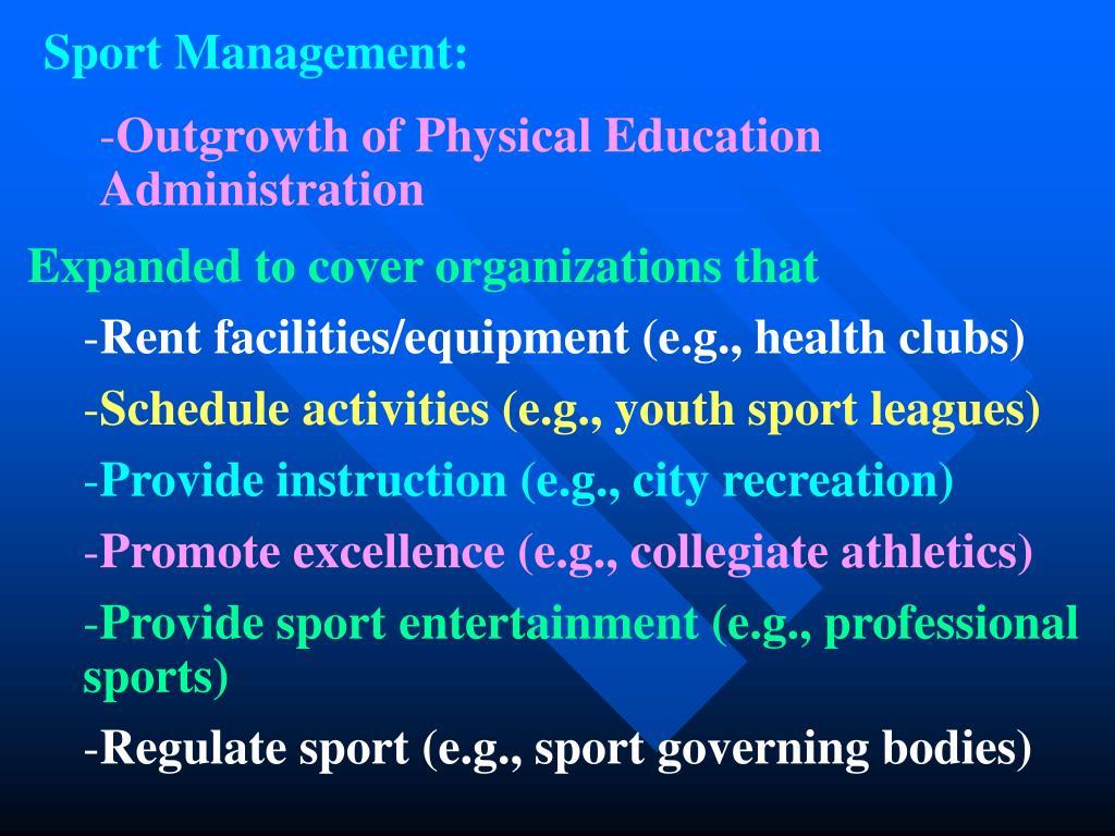 Sport Management: