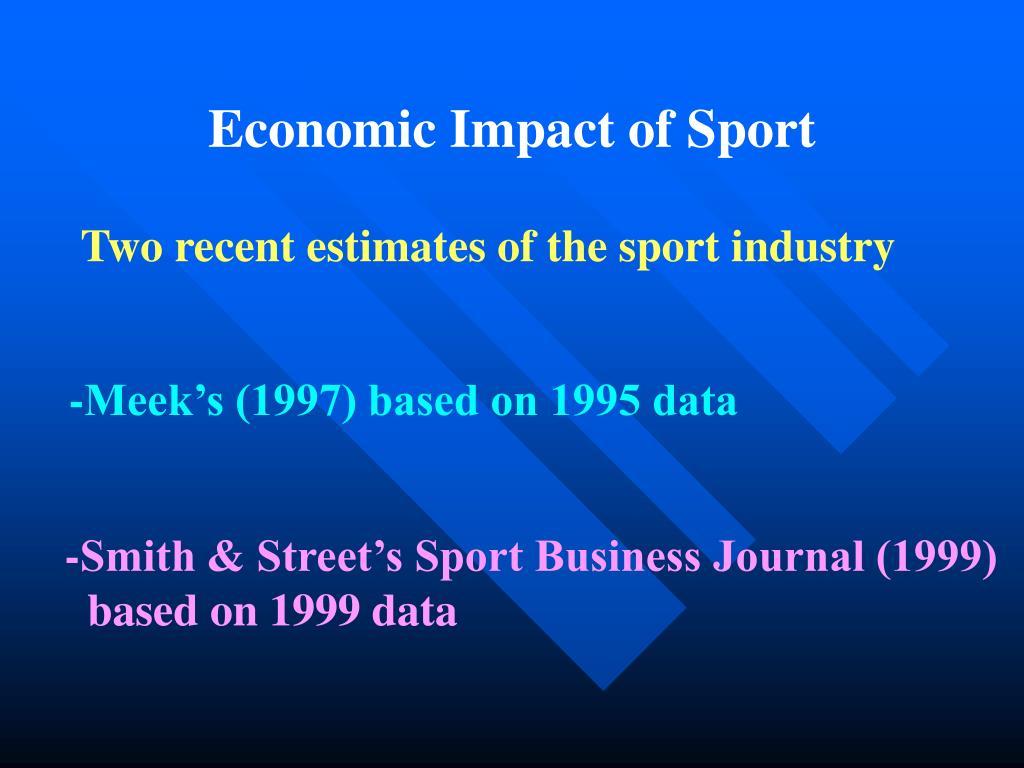 Economic Impact of Sport